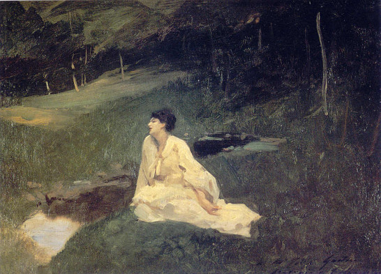 Image: Judith Gautier at la Fourberie by J.S.Sargent
