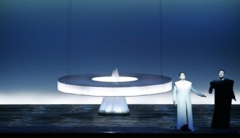 Image: Act I transformation scene in the Robert Wilson LA production