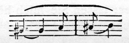 A basic motive in Tristan: the Yearning motive.