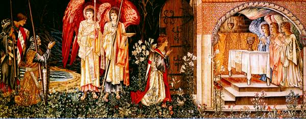 The Attainment of the Holy Grail, design for a tapestry by Burne-Jones