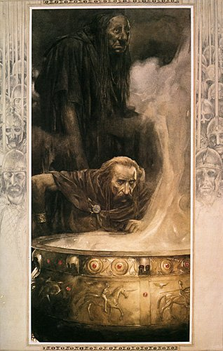 Illustration for the Mabinogion by Alan Lee