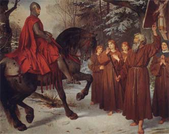 Image: Parzival meets the pilgrims on Good Friday, painting by A. Spiess (?)