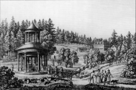 Marienbad, the Forest Well in 1840.