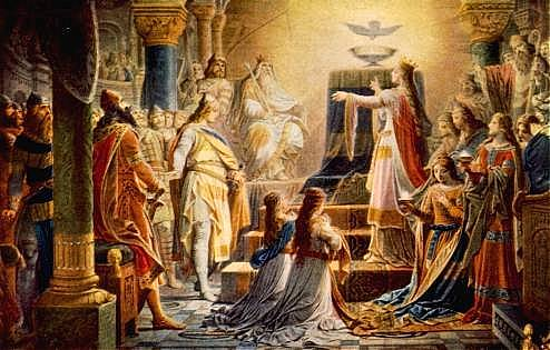 Image: The Miracle of the Grail, by Wilhelm Hauschild