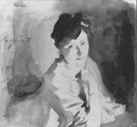 Judith Gautier drawn by J.S.Sargent