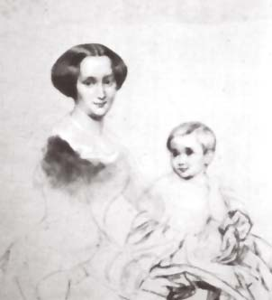 Mathilde Wesendonck and son